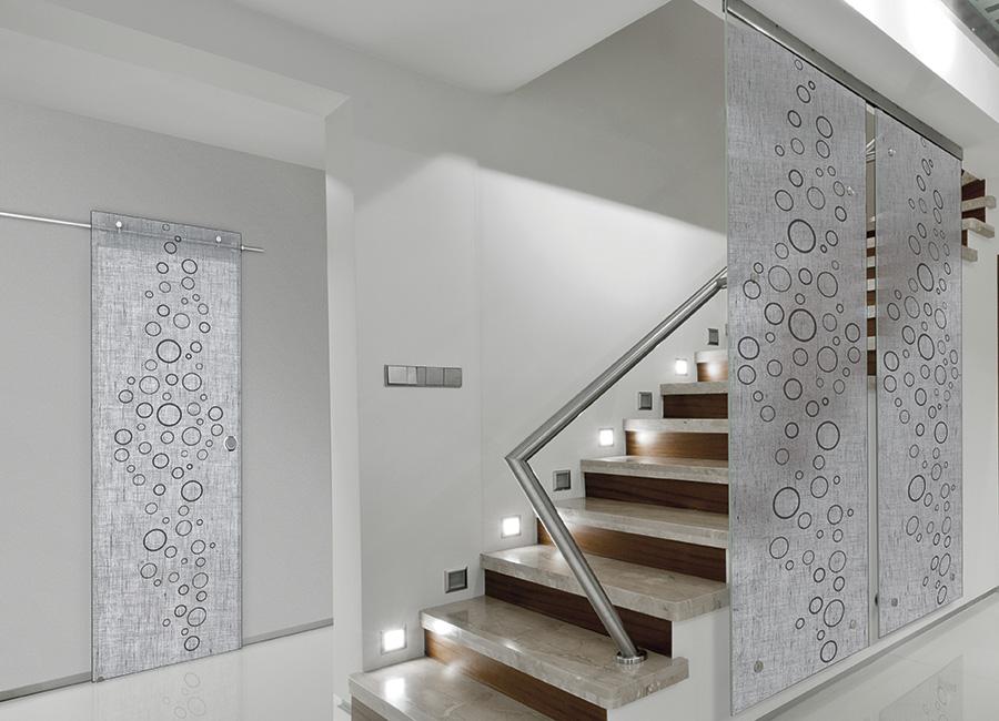 Antracite - Porta vetro con lino decorato