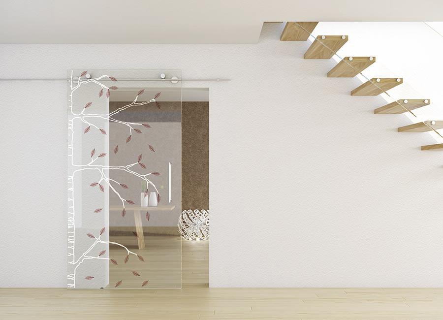 Betulla - Porta vetro decorata naturalmente