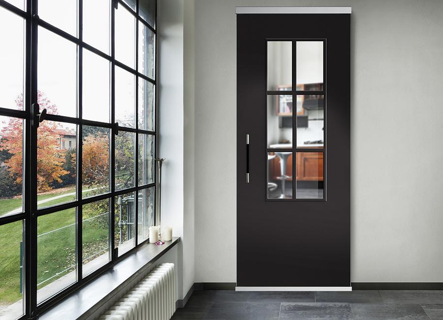 Classica - Porta con vetri stratificati verniciati