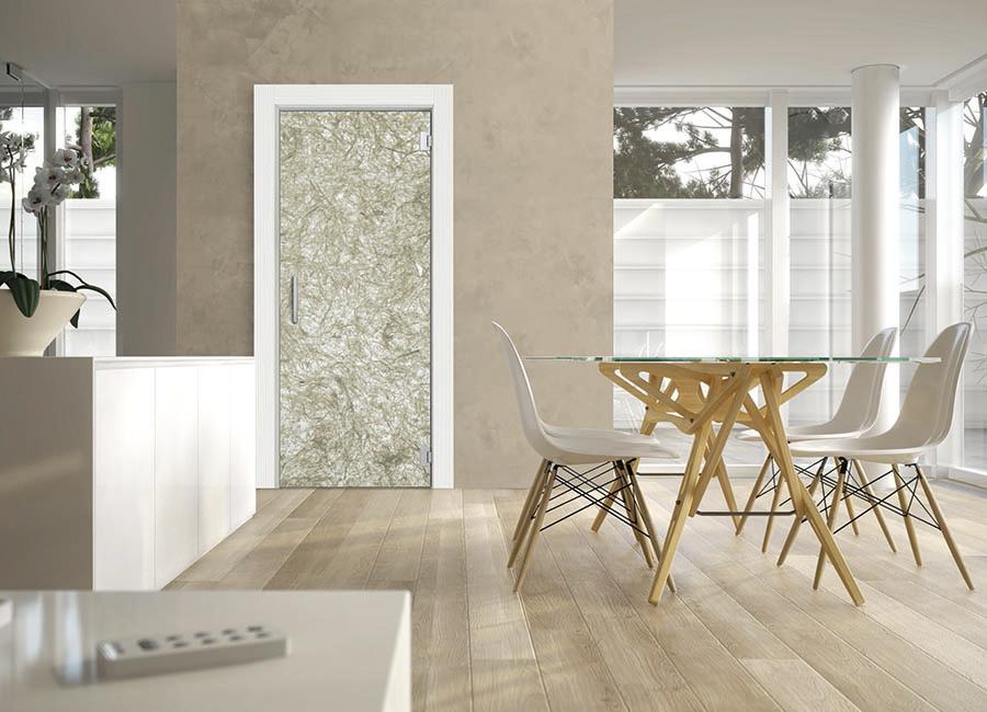 Lichene - Porta vetro decorata con strati naturali
