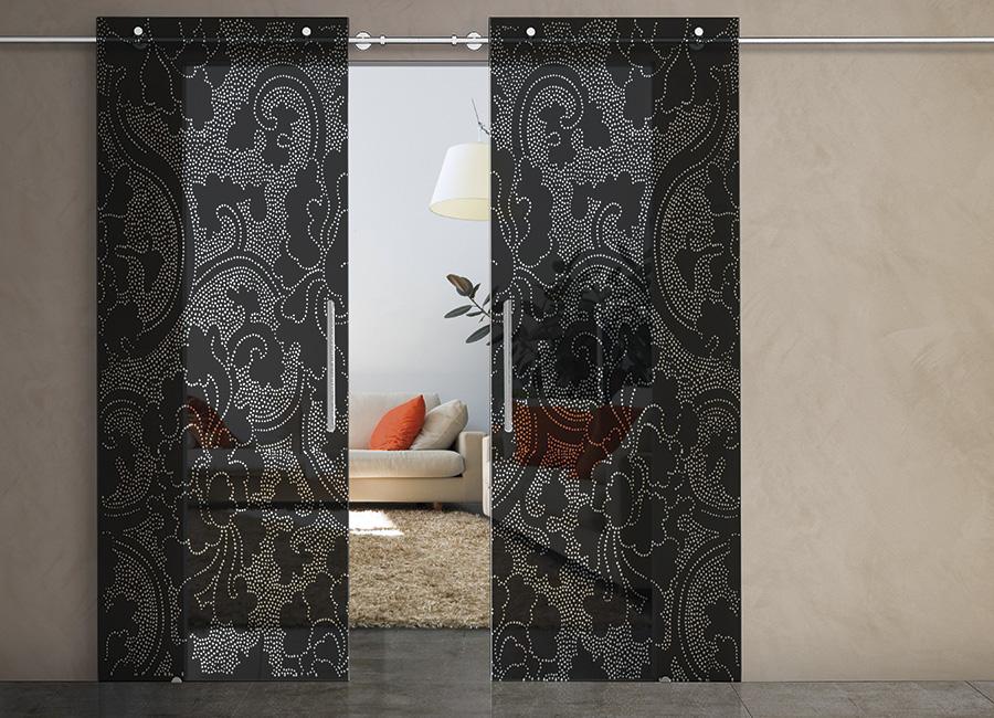 Pompei - Porta con vetri stratificati verniciati