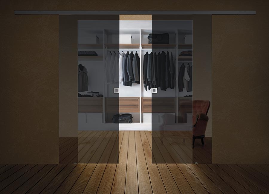 Rifletti - Porte in vetro temperato riflettente