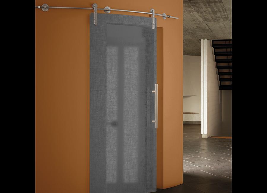 Rivazza - Porta vetro decorata con lino