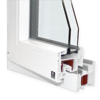 Finestra in PVC modello C80.Q