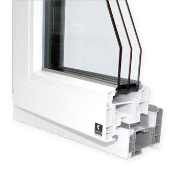Finestra in PVC modello C86.Q