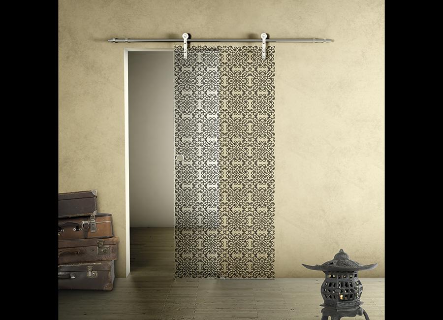 Arab - Porta con vetri stratificati verniciati