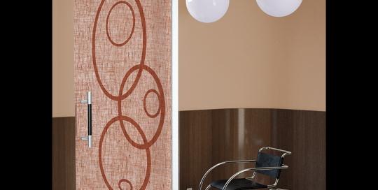 Futura - Porta vetro decorata con lino e vernice
