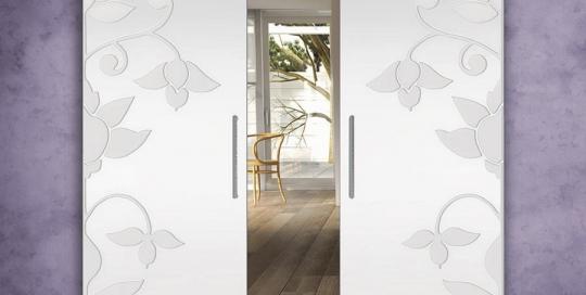 Ninfa - Porta vetro con incisone