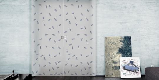 Rinfusa - Porta vetro decorata con foglie naturali