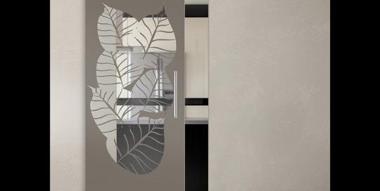 Sfogliami - Porta con vetri stratificati verniciati